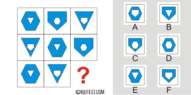 IQ Test - Beispielfrage Logische Testmatrizen