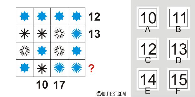 IQ-Test - Beispiel für eine Fragenserie # 3