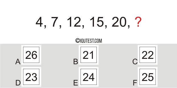 IQ-Test - Beispielfrage Numerische Testnummernreihe