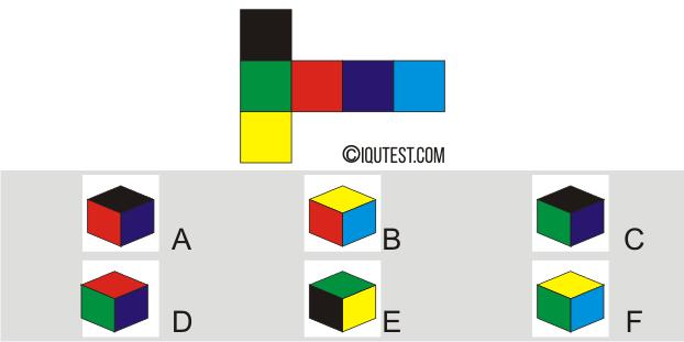 IQ Test - Beispielfrage Spatial Test Paper Folding