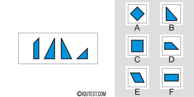 IQ-Test - Beispielfrage Räumlicher Testmustervergleich