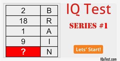 IQ Test Series #1