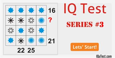 IQ Test Series #3